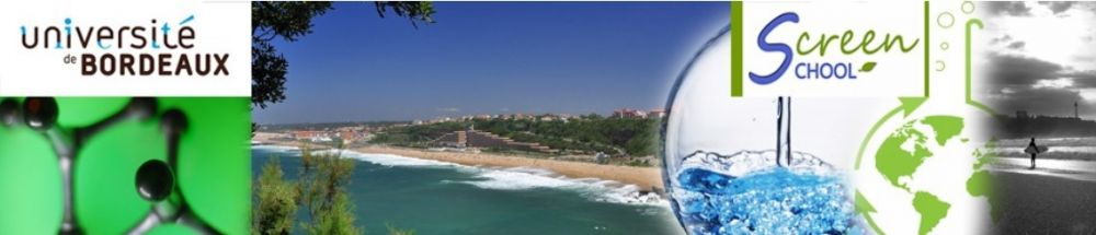 "Screen school ""Sustainable ChemistRy and EnginEeriNg School"" - 21-25 October 2014, Anglet - France"